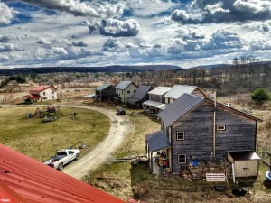 View from above of White Hawk Ecovillage