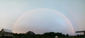 Rainbow over White Hawk Ecovillage